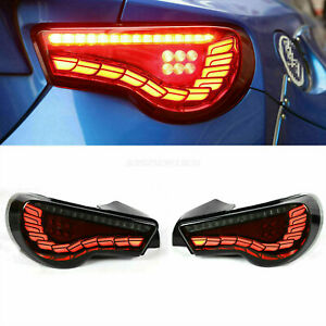 For Toyota Scion FRS 86 Subaru BRZ 2013-2019 Tail Lights 4pc Smoke Rear Assembly