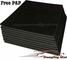 9 X hojas de sonido coche vehículo almohadillas de amortiguación de aislador de la impermeabilización de Amortiguamiento aislamiento