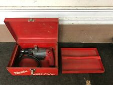 "Milwaukee 5392 Heavy Duty 3/8"" Electric Corded Hammer Drill Power Tool in Case"