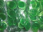 Green Metal Rimmed Bingo Chips 100 200 300