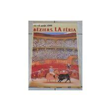 Affiche Originale de la Feria BÉZIERS du 11 au 15 Août 1999 Picador par BOTERO