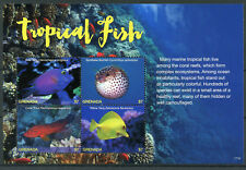 Grenada 2017 MNH Tropical Fish Tang 4v M/S II Fishes Marine Corals Stamps