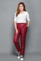 Unise shiny nylon fashion sports loose down pants bottoms trousers wetlook warm