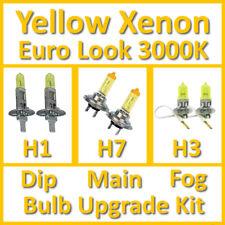 Warm White 3000K Yellow Xenon Headlight Bulb Set Main Dip Fog H1 H7 H3 Kit