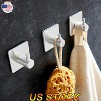 Multi-use Self Adhesive Bathroom/Kitchen Wall Hanger Stainless Steel Stick Hooks