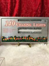 NEW Vintage Indoor/Outdoor Christmas 140 Light Set Clear w/ Green Wire CHASING