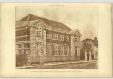 1908 Design For A Public Library In Bromley, Kent Evelyn Hellicar