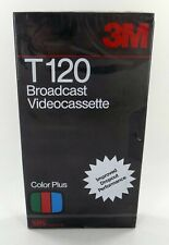 BRAND NEW and SEALED! 3M T120 Broadcast VHS Cassette! FREE SHIP!