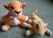 Disney Bean Bag Plush The Lion King Baby Cub Simba & Nala LOT Stuffed Animal Toy