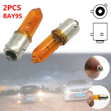 2PCS BAY9s 12V 21W Amber Bayonet Bulb Car Truck Halogen Indicator Brake Fog Lamp