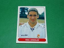 N°110 RAUL REAL MADRID ESPAÑA PANINI EUROPEAN FOOTBALL STARS 1996-1997