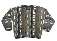 BARACUTA Tundra VTG 90s Mens LARGE Sweater Canada Coogi Like Cosby Biggie