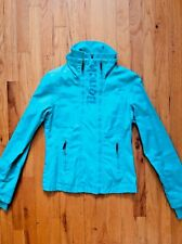 BENCH - Double Zip Front Jacket - Teal / Turquoise/ Aqua Blue - Small S