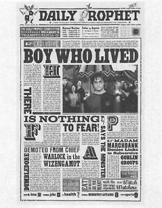 Harry Potter The Daily Prophet Boy Who Lived Flyer/Poster Prop/Replica