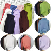 Women's Ladies Long Sleeve Jumper Slim High Neck Tops Casual T-shirt Pullovers