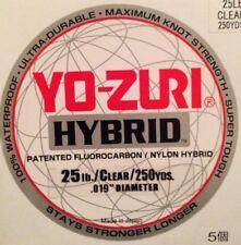Yo-Yuri Hybrid Fluorocarbon Fishing Line 25 Lb. 250 Yds Clear 25 Test Japan