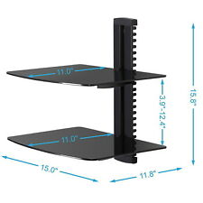 TV Wall Mount AV DVD Cable box, Console Shelving with 2 Adjustable Shelf