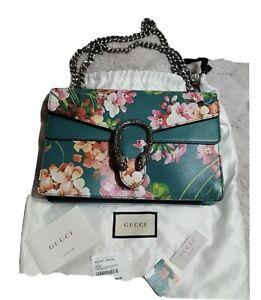 Authentic NWT Gucci Dionysus Shoulder Hand Bag Blooms Purse Medium Cerise Green