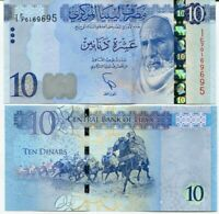 Libya 10 Dinars 2015 P 82 UNC