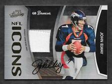 2009 Absolute John Elway Auto Patch #'d 2/25 Autographed NFL ICONS