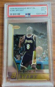 1996 Bowman's Best #R23 Kobe Bryant Lakers RC Rookie HOF PSA 9 MINT