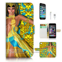 ( For iPhone 7 Plus ) Wallet Case Cover P3071 Egypt Queen