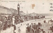 BR79072 weymouth promenade and clock tower bike  uk