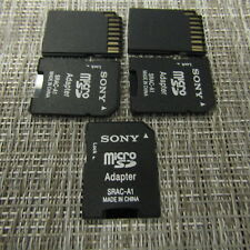 SONY SD ADAPTER FOR MICROSD, BLACK, LOT OF 5, WORKS, 2349