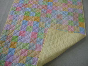 """Handmade hand quilted baby quilt 36"""" x 54"""""""