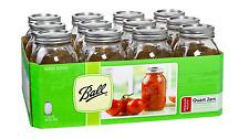 Ball Regular Mouth 12-Pack 1 qt.(32 oz) Glass Canning Mason Jars,Dishwasher-Safe