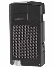 XiKAR 523BKCF Forte Single Torch Flame Cigar Lighter Black Carbon Fiber