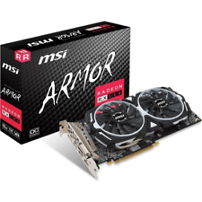 MSI AMD Radeon RX 580 Armor 8G OC 8GB Grafikkarte GDDR5  DVI/2xHDMI/2x DP