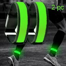 2 Pack LED Bracelets Running Light Sports Adjustable Runners For Cyclists