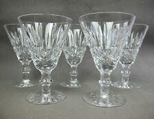 Vintage set 5 x WATERFORD cut crystal glass MAEVE Wine or Water GOBLETS GLASSES.