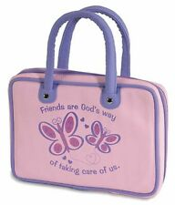 FRIENDS Bible Cover  Girl Butterfly Glitter Child's Bible or Missal Cover Bag