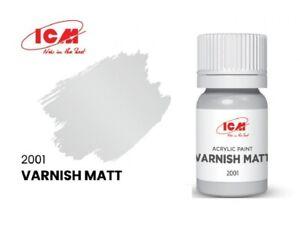 ICM 2001 - Acrylic paint, Varnish Matt. Volume ml: 12. Top coat for any color