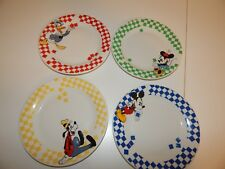 Mickey & Co. Gabbay Disney Salad Plates ~ Mickey, Minnie, Pluto & Donald Duck