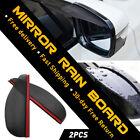 2* Black Car Guard Sun Visor Rear View Side Mirror Rain Board Eyebrow Auto Parts