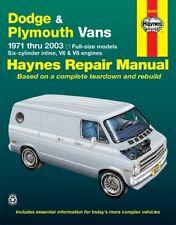 Repair Manual-Base Haynes 30065. Dodge and Plymouth vans. 1971-2003.