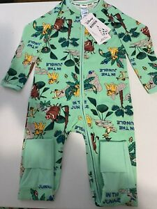 BONDS Disney Lion King Zippy Wondersuit Size 2 BNWT LIMITED EDITION Green
