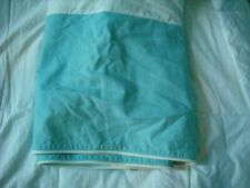 Pottery Barn Pb Teen Aqua Blue Bed Skirt Full Split Corner Piping
