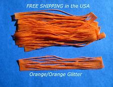 10 Silicone Skirt Tab T68 Orange with Orange Glitt Lure Craft Bass Spinner Bait
