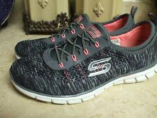 Skechers Memory Foam Gray/Pink slip on Sneaker/Athletic Shoe Women 8.5 Euc Mint