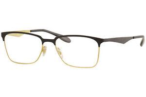 Ray Ban Eyeglasses RB6344 RB/6344 RayBan 2890 Gold/Black Optical Frame 56mm