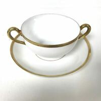 Bavaria China Baronial Flat Bouillon Cup & Saucer by Paul Muller (7 available)