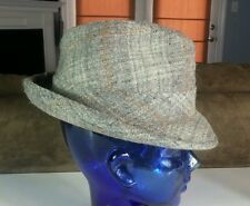 Vtg Levinson Tweed Wool Dress Fedora Hat Cap 7 1/8 OG Pimp Gangster Rockabilly