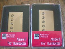 SEYMOUR DUNCAN ALNICO II PRO APH-1 HUMBUCKER PICKUP SET NICKEL COVERS