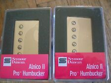 SEYMOUR DUNCAN ALNICO II PRO APH-1 HUMBUCKER PICKUP SET NICKEL COVERS