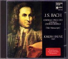 BACH Yale Manuscript Organ Chorale Prelude JOSEPH PAYNE CD Orgel Bozeman-Gibson