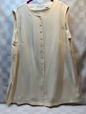 CHAUS Beige Blouse Button Front Top Women's Shirt Size 20